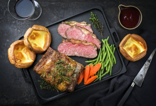 Roastbeef mit Yorkshirepudding